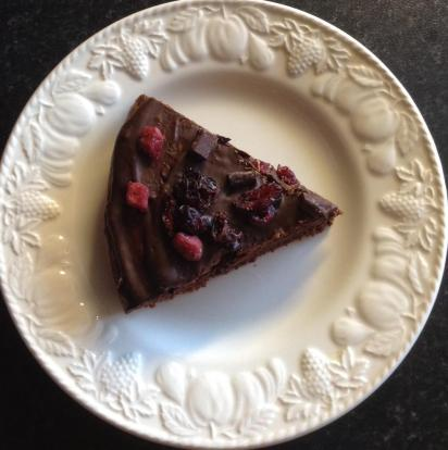 Choc cherry brownie